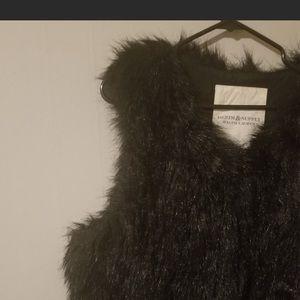 Denim & Supply faux fur zip up vest